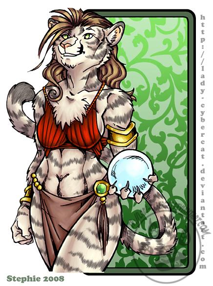 Anthro white tigress - photo#9