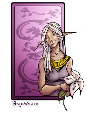 Elf Girl with Flower2