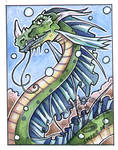 Water Dragon ACEO