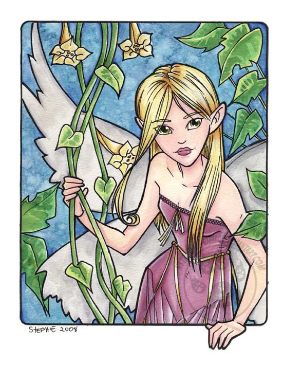 Flower Pixie Watercolor by lady-cybercat