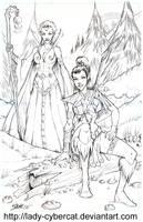SnowWhite RoseRed Comic Art by lady-cybercat