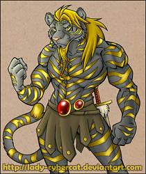 Black Gold Tiger by lady-cybercat
