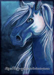 Blue Pony Acrylic