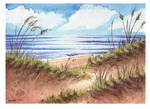 Watercolor Sand Dunes