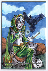 Snow Leopard Mage and Friend by lady-cybercat