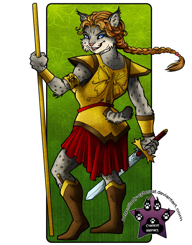 Lynx Warrior Commission by lady-cybercat