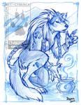 Werewolf Mage in blue