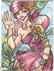 Rose Fairy  Art Card