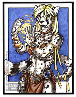 The White Cheetah Mage color by lady-cybercat