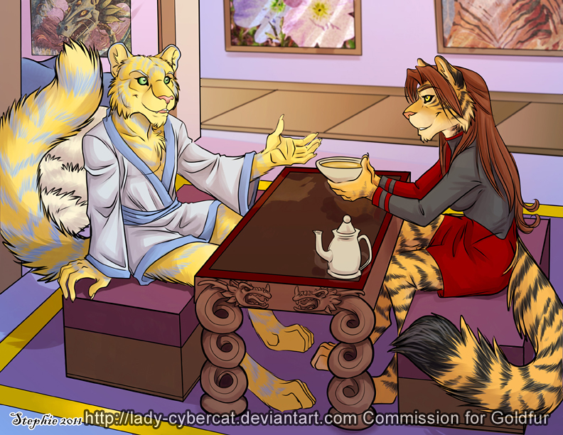 Goldfur Story Illustration by lady-cybercat