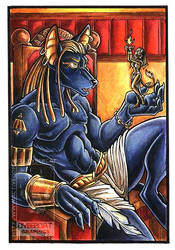 Anubis Colored by lady-cybercat