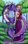 Mystic Purple Dragon and Lady
