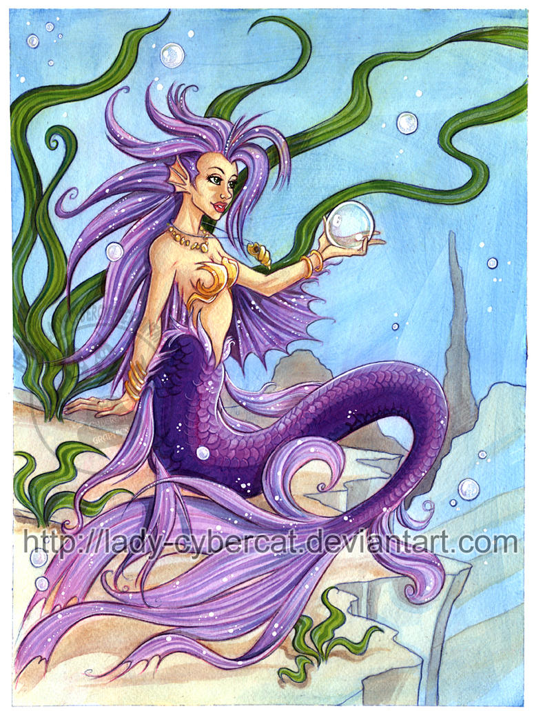 Mermaid Acrylic Painting by lady-cybercat on DeviantArt