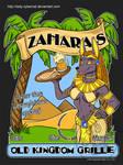 Zahara's Old Kingdom Grill T-Shirt by lady-cybercat