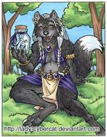 Wolf with a Fae Jar by lady-cybercat