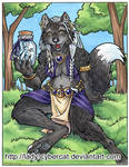 Wolf with a Fae Jar