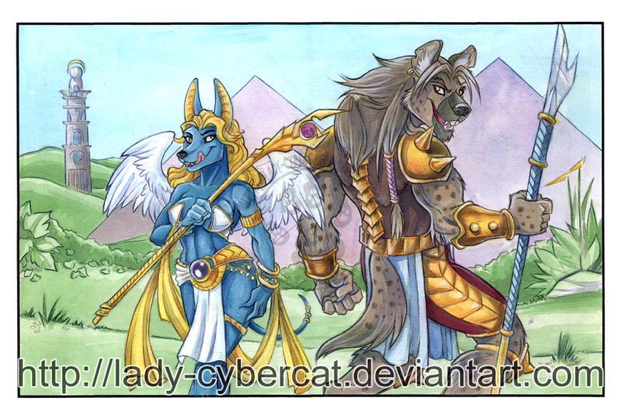 Zahara and Hyena by lady-cybercat