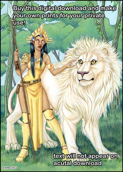 Lion and Goddess Digital Download