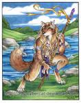 Red Werewolf by River