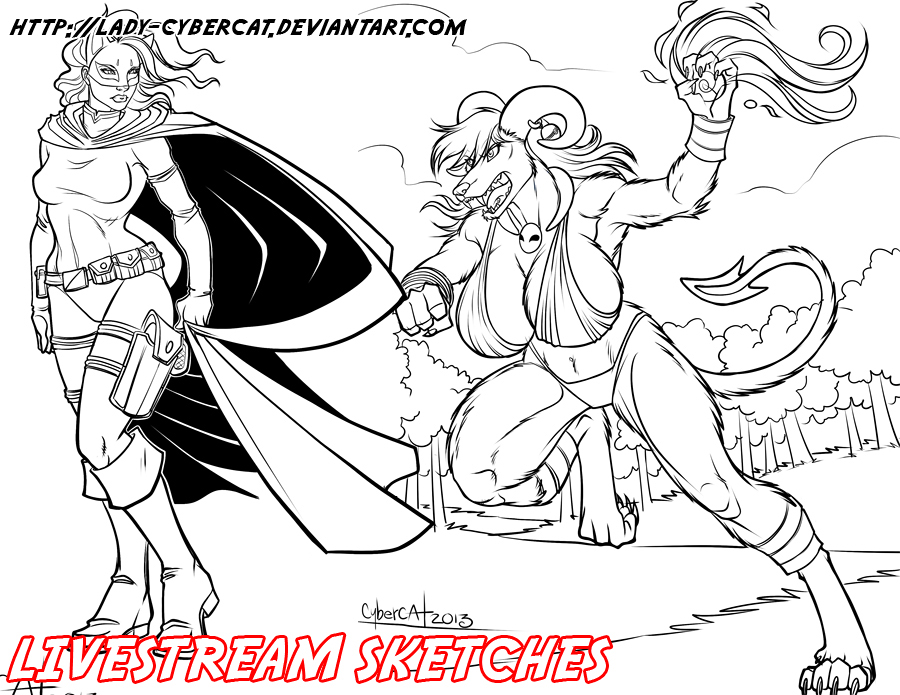 March3 Livestream Sketch Commission 2 by lady-cybercat