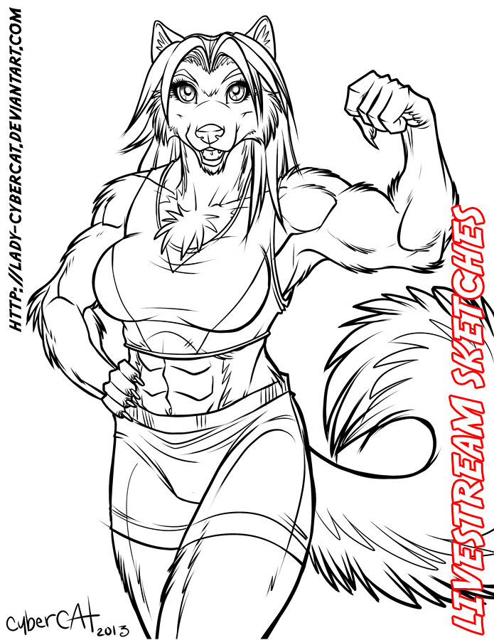March3 Livestream Sketch Commission 3 by lady-cybercat