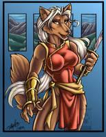 Foxy Warrior by lady-cybercat