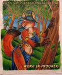 Woodland Fox work in progress