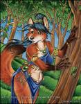 Woodland Vixen Painting by lady-cybercat