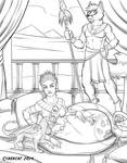 Egyptian YCH Auction Nightsclaw and Werefox by lady-cybercat