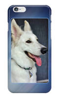 White German Shepherd Dog iPhone and Galaxy Cases by lady-cybercat