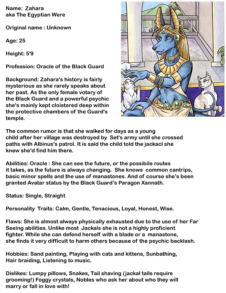Zahara 's Bio by lady-cybercat