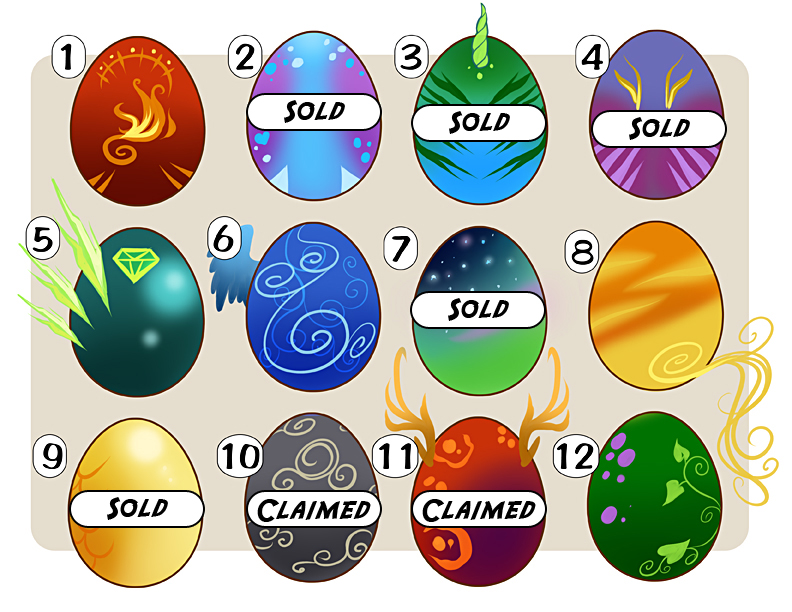 Customizable Egg Adoptable Sale ! by lady-cybercat