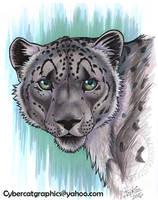 Snow Leopard Portrait by lady-cybercat