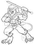 Digimon Leomon for Anubiis_werewolf