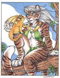 Tigress and Friend by lady-cybercat