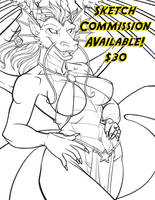 Taking 2 sketch commissions ! by lady-cybercat