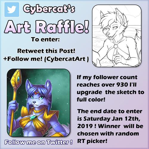 Twitter Art Giveaway ends Soon Enter now! by lady-cybercat