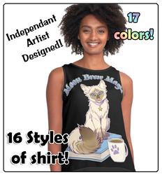 Moon Brew Magic Cute Kitty and Coffee Shirts