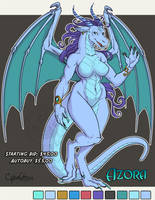 Azora Adoptable Dragon  SOLD by lady-cybercat