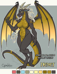 Nenet Adoptable Dragon  SOLD by lady-cybercat