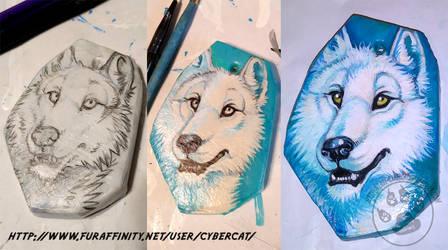 Wolf Pendant Art