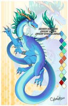 Blue Cloud Dragon  Adoptable Starting Bid $75 open