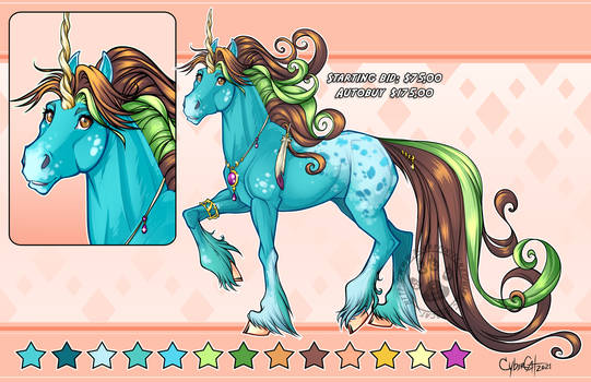 Copper Pony  Unicorn Adoptable Starting Bid $75