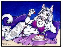 The White Cat II by lady-cybercat