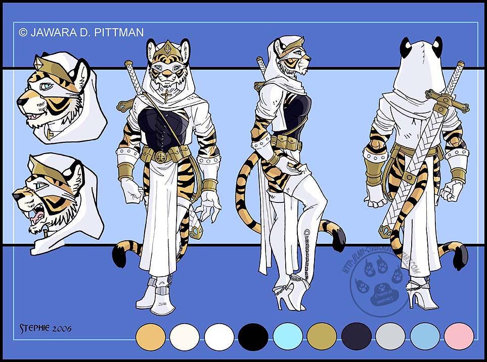 Anthro white tigress - photo#6