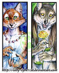 Wolf and Fox Bookmarks