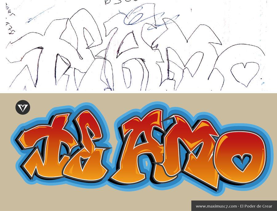 Imagenes de amor HD: Imagenes que digan te amo en graffiti