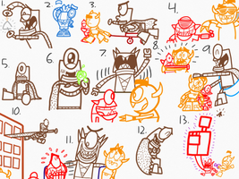 Captain Mixerpants Doodles 2 by AngryBirdsandMixels1