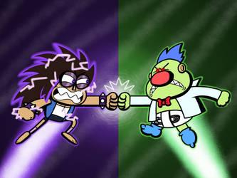 Fighter VS. Destroyer by AngryBirdsandMixels1