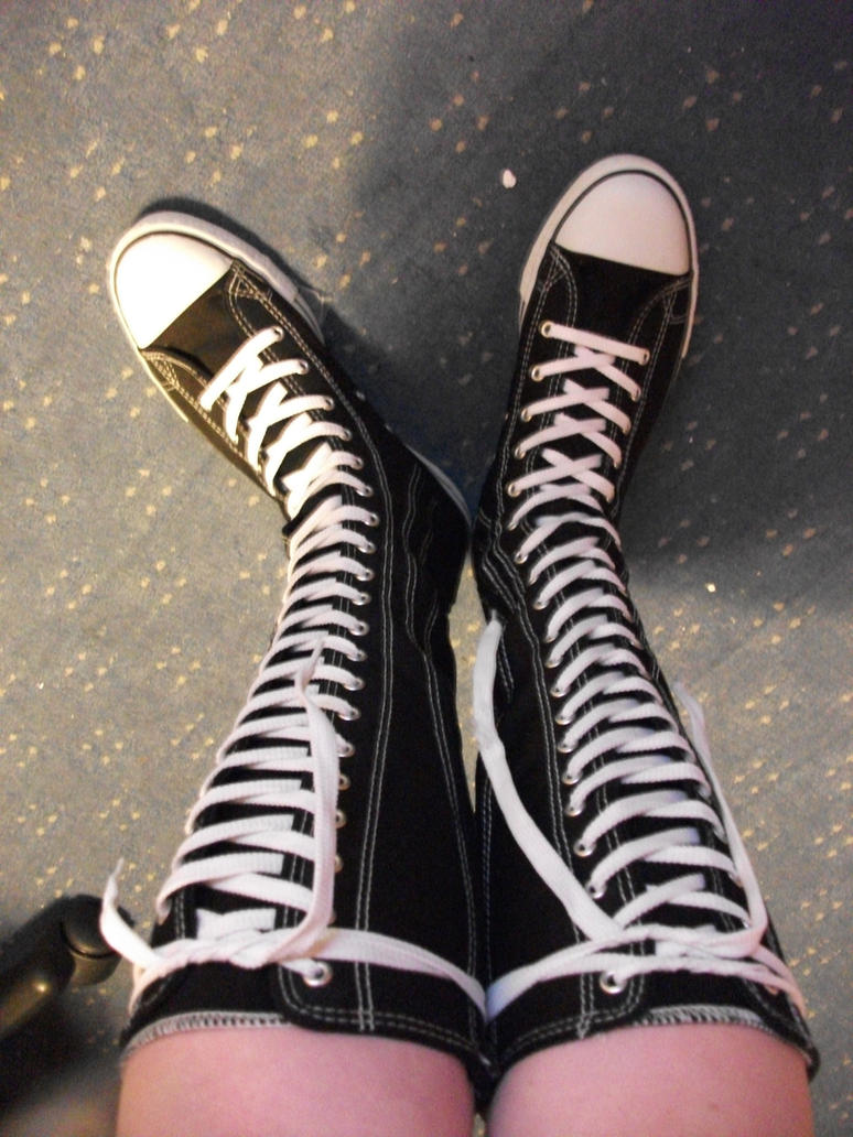 my knee high almost converse by okami on deviantart